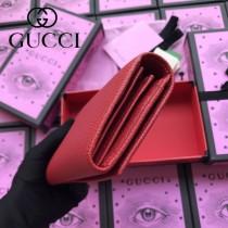 GUCCI-516926 古馳時尚新款原版皮復古黃銅五金LOGO小牛皮長夾 手拿包