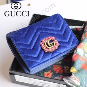 GUCCI-499783-03 古馳時尚新款原版皮時尚經典復古黃銅五金LOGO卡包 零錢包