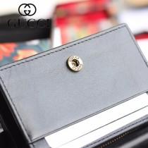 GUCCI-499783 古馳時尚新款原版皮時尚經典復古黃銅五金LOGO卡包 零錢包