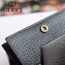 GUCCI-499783-06 古馳時尚新款原版皮時尚經典復古黃銅五金LOGO卡包 零錢包