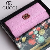 GUCCI-499779-01 古驰时尚新款原版皮時尚經典復古黃銅五金LOGO錢夾