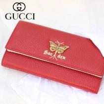 GUCCI-516926-04 古馳時尚新款原版皮時尚經典復古黃銅五金LOGO全皮手包 钱包