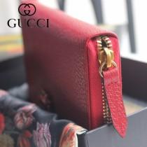 GUCCI-499793-01 古馳時尚新款原版皮時尚經典復古黃銅五金LOGO手包 拉链长夹