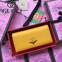 GUCCI-516926-02 古馳時尚新款原版皮復古黃銅五金LOGO小牛皮長夾 手拿包