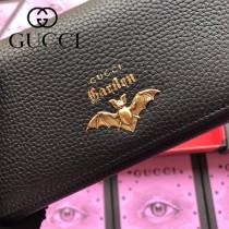 GUCCI-516926-03 古馳時尚新款原版皮復古黃銅五金LOGO小牛皮長夾 手拿包
