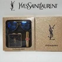 YSL彩妝-02 聖羅蘭星辰系列眼鏡+眼影+口紅三件套