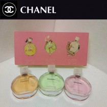 Chanel香水-026 香奈兒邂逅系列黃/粉/綠香水三件套