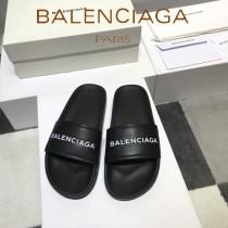 Balenciaga鞋子-08-3 巴黎世家頂級代購版本夏季新款頭層牛皮男女款拖鞋