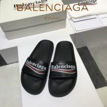 Balenciaga鞋子-08-6 巴黎世家頂級代購版本夏季新款頭層牛皮男女款拖鞋