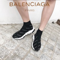Balenciaga鞋子07-3 巴黎世家成名之作雙色組合大底高幫襪子鞋毛線運動鞋