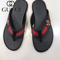 GUCCI鞋子-01 古馳新款進口織帶刺繡圖案人字拖拖鞋