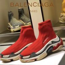 Balenciaga鞋子-09-3 巴黎世家懶人超級百搭款老爹姥爺襪子鞋