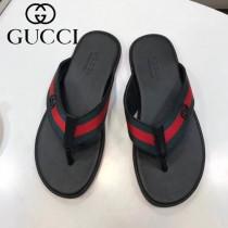 GUCCI鞋子-03 古馳新款進口織帶刺繡圖案人字拖拖鞋