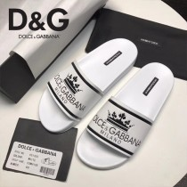 D&G鞋子-02 杜嘉班納最新原單級拖鞋皇冠主題系列原版牛皮男士拖鞋