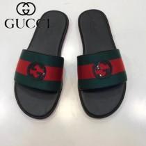 GUCCI鞋子-05 古馳新款進口織帶雙Glogo圖案一字拖拖鞋
