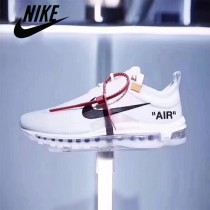 Nike鞋子-03 耐克時尚經典OW聯名真標高版本情侶款白色子彈鞋
