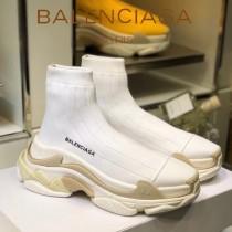 Balenciaga鞋子-09-6 巴黎世家懶人超級百搭款老爹姥爺襪子鞋