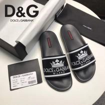 D&G鞋子-01 杜嘉班納最新原單級拖鞋皇冠主題系列原版牛皮男士拖鞋