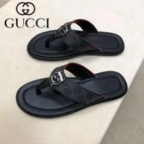 GUCCI鞋子-09 古馳新款原版復刻雙g配PVC防水料男士人字拖拖鞋