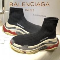 Balenciaga鞋子-09-7 巴黎世家懶人超級百搭款老爹姥爺襪子鞋