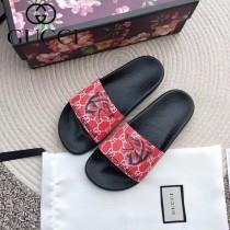 GUCCI鞋子-021 古馳人氣經典系列男女款印花一字拖拖鞋