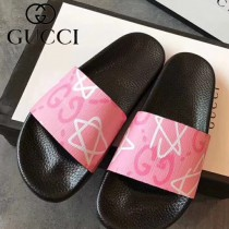 GUCCI鞋子-032 古馳人氣經典系列男女款印花一字拖拖鞋