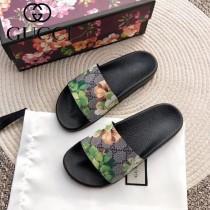 GUCCI鞋子-027 古馳人氣經典系列男女款印花一字拖拖鞋