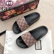 GUCCI鞋子-025 古馳人氣經典系列男女款印花一字拖拖鞋
