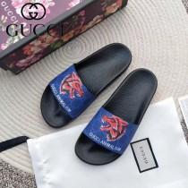 GUCCI鞋子-023 古馳人氣經典系列男女款印花一字拖拖鞋
