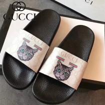 GUCCI鞋子-033 古馳人氣經典系列男女款印花一字拖拖鞋