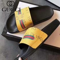 GUCCI鞋子-030 古馳人氣經典系列男女款印花一字拖拖鞋