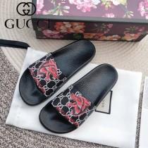 GUCCI鞋子-022 古馳人氣經典系列男女款印花一字拖拖鞋