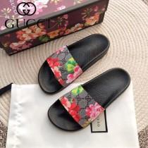 GUCCI鞋子-026 古馳人氣經典系列男女款印花一字拖拖鞋