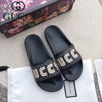 GUCCI鞋子-020 古馳人氣經典系列男女款印花一字拖拖鞋