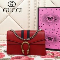 GUCCI 400249-24 個性時尚藍紅織帶搭配原版牛皮酒神包