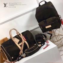 LV M43466 專櫃新品Supreme聯名款Keepall 45原單迷彩帆布手提旅行袋