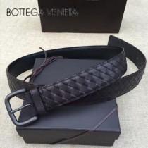 BV皮帶-02-4  低調奢華原單  意大利小牛皮手工編織皮帶
