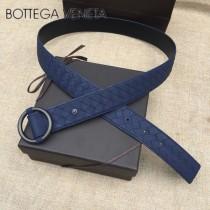 BV皮帶-06-1  原單 新款圓扣  手工編織皮帶