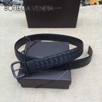 BV皮帶-01 低調奢華原單意大利小牛皮手工編織皮帶
