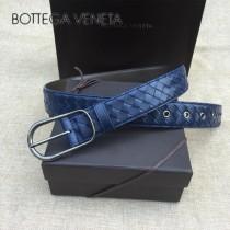 BV皮帶-19 原單 手工編織針扣皮帶  低調奢華