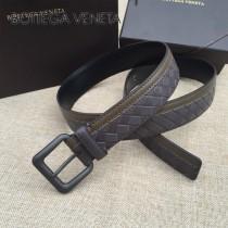 BV皮帶-13-1 原單 拼色手工編織皮帶  为休闲装或正装造型增添优雅韵味
