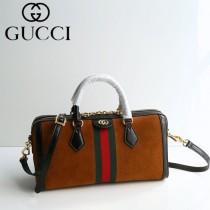 GUCCI 524532-4 專櫃新品女士Ophidia原單天鵝絨搭配牛皮手提單肩包