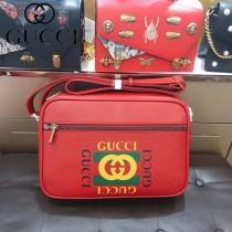 GUCCI 523589 專櫃新品男女同款原單塗鴉印花單肩斜挎包