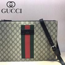 GUCCI-429004 古馳時尚新款原單男士織帶郵差包