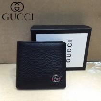 GUCCI-308795 古馳時尚新款原單經典男士2折钱包 短夹