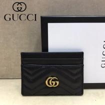 GUCCI-443127-01 古馳時尚新款原單小牛皮卡包 信用卡夾