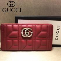 GUCCI-448087-02 古馳時尚新款原單小牛皮拉鏈錢包