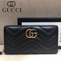 GUCCI-448087-07 古馳時尚新款原單小牛皮拉鏈錢包