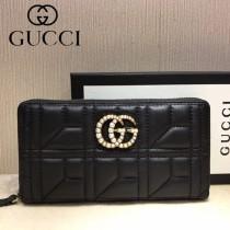 GUCCI-448087-09 古馳時尚新款原單小牛皮拉鏈錢包