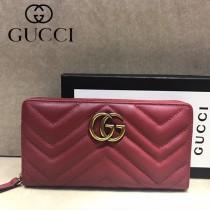 GUCCI-448087-03 古馳時尚新款原單小牛皮拉鏈錢包